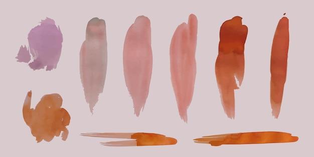 Coleção de manchas de aquarela pintada à mão