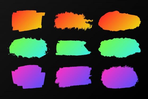 Coleção de manchas de tinta colorida