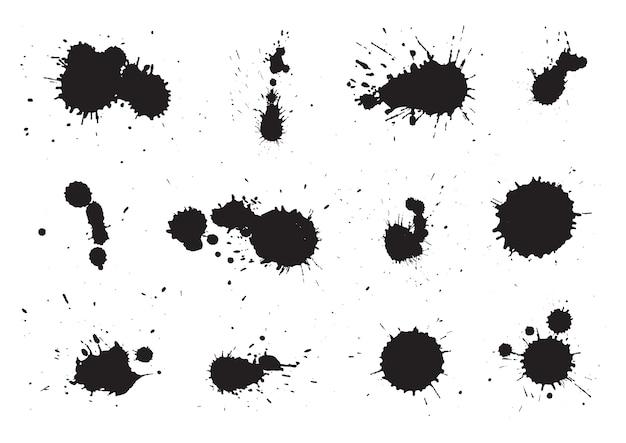 Coleção de manchas de tinta