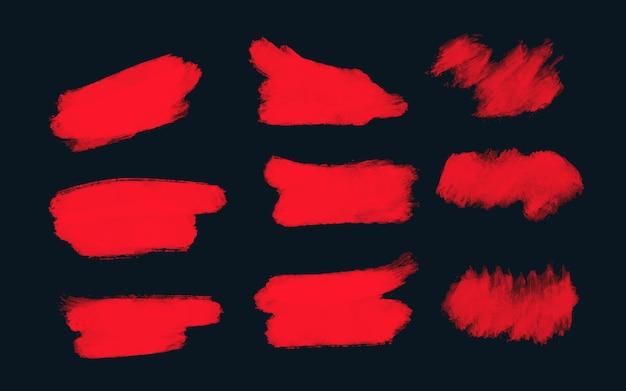 Coleção de manchas vermelhas de sexta-feira negra