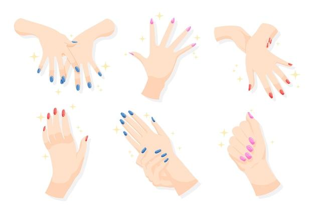 Coleção de mão de manicure
