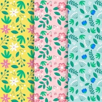 Coleção de mão desenhada design primavera padrão