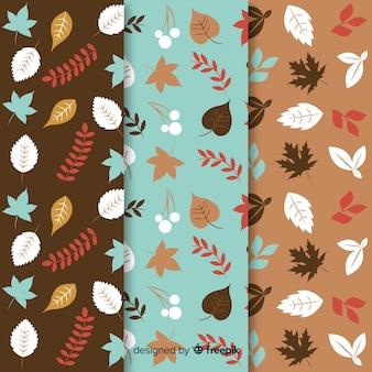 Coleção de mão desenhada outono padrão
