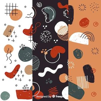 Coleção de mão desenhada padrão abstrato