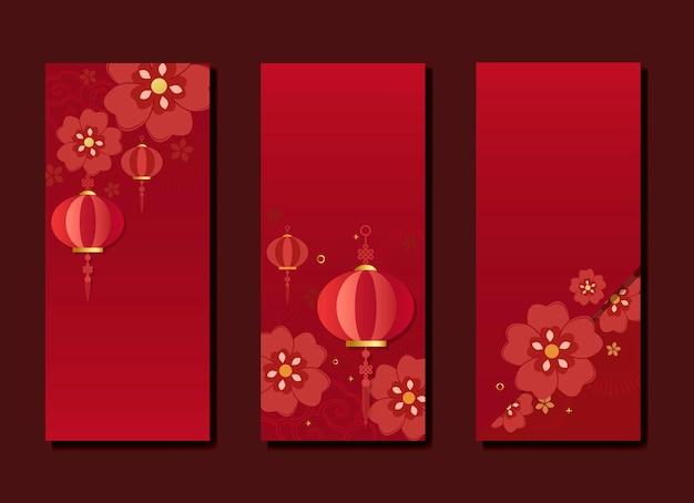 Coleção de maquete de ano novo chinês