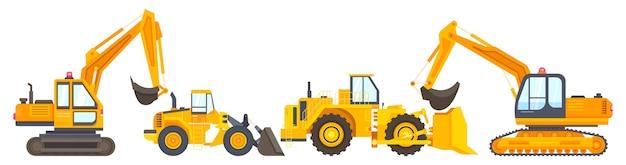 Coleção de máquinas de construção