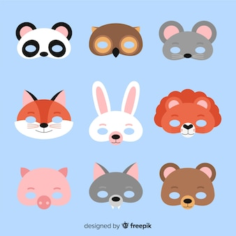 Coleção de máscara de carnaval animal
