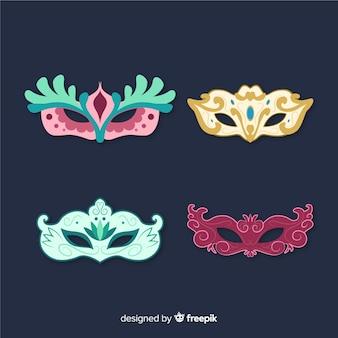 Coleção de máscara de carnaval vintage