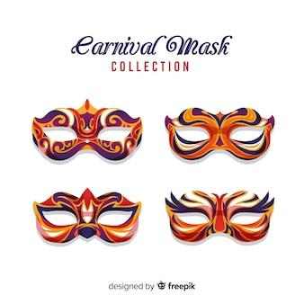 Coleção de máscara de carnaval