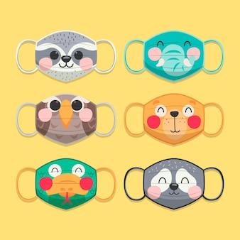 Coleção de máscara de rosto animal
