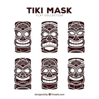 Coleção de máscara tiki