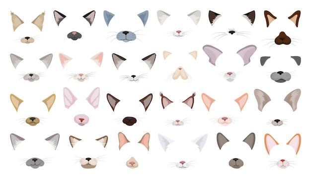 Coleção de máscaras de gato