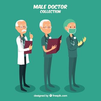 Coleção de médicos no trabalho