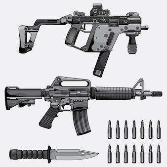 Coleção de metralhadora