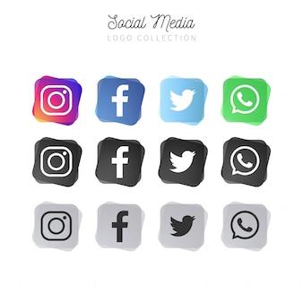 Coleção de mídia social abstrata