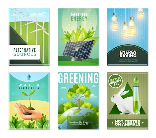 Coleção de mini banners ecologia 6