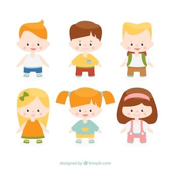 Coleção de miúdos de sorriso