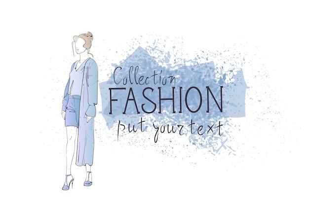Coleção de moda de roupas femininas