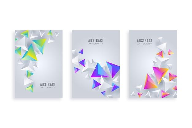 Coleção de modelo abstrato flyer