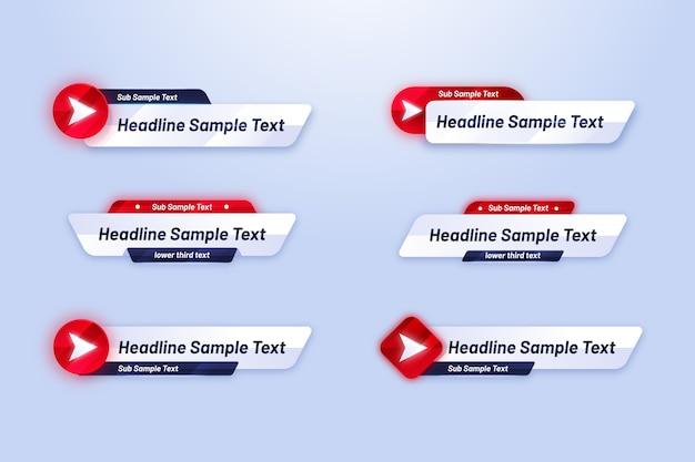 Coleção de modelo de banner da web