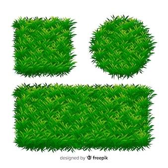 Coleção de modelo de banner de grama realista