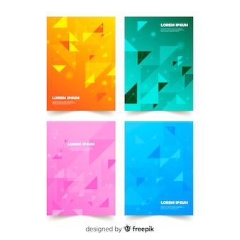 Coleção de modelo de brochura de gradiente