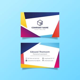 Coleção de modelo de cartão colorido abstrato