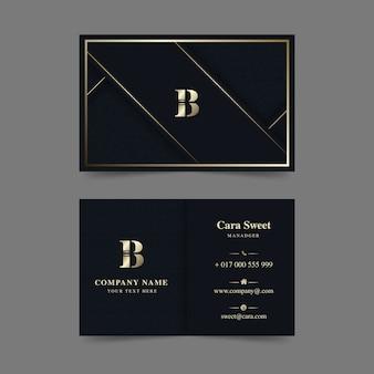 Coleção de modelo de cartão de visita de luxo