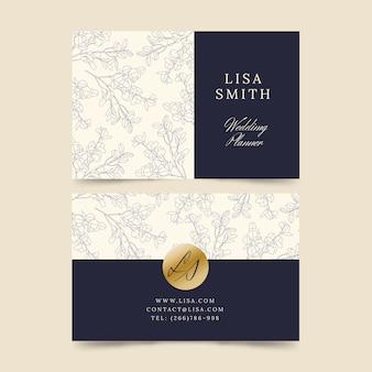 Coleção de modelo de cartão elegante