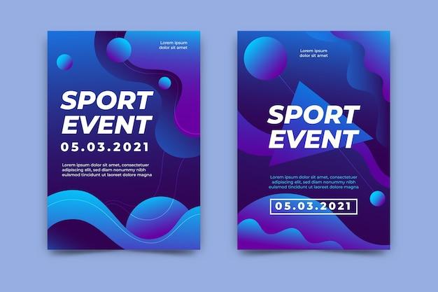 Coleção de modelo de cartaz de evento esportivo
