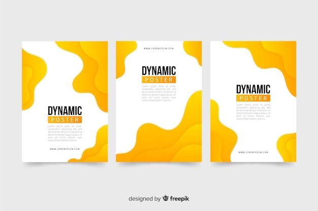 Coleção de modelo de cartaz dinâmico
