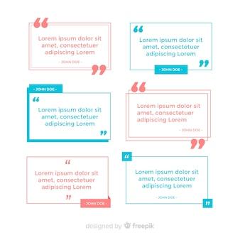 Coleção de modelo de citação plana