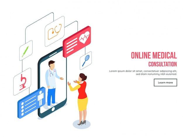 Coleção de modelo de consulta médica on-line.
