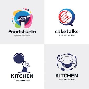 Coleção de modelo de design de logotipo de cozinha