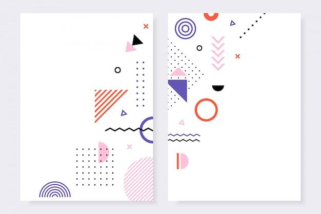 Coleção de modelo de design moderno de capas brilhantes.