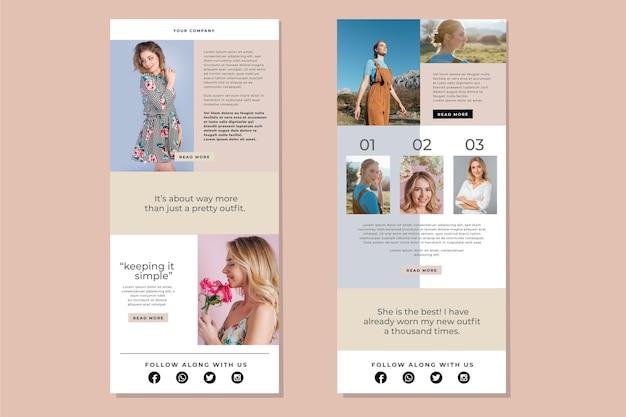 Coleção de modelo de e-mail do blogger