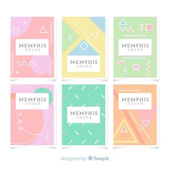 Coleção de modelo de folheto de estilo memphis