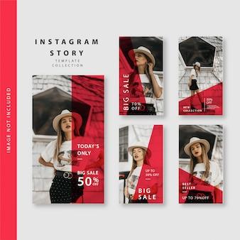 Coleção de modelo de história do instagram