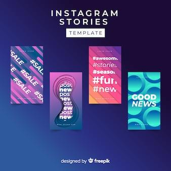 Coleção de modelo de histórias abstratas do instagram