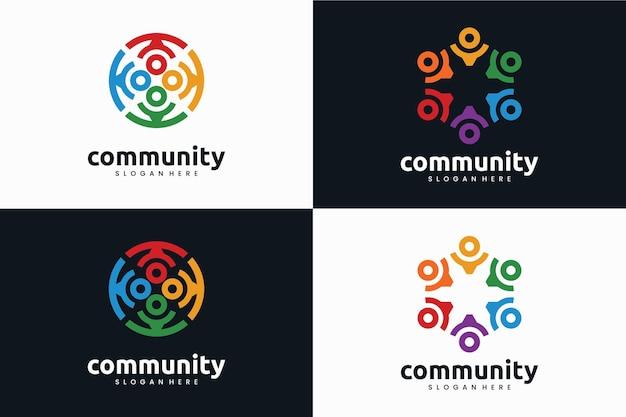 Coleção de modelo de logotipo da comunidade