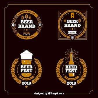 Coleção de modelo de logotipo de bar de cerveja