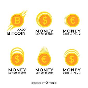 Coleção de modelo de logotipo de conceito de dinheiro