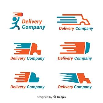 Coleção de modelo de logotipo de entrega