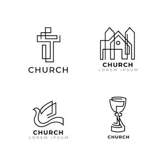 Coleção de modelo de logotipo de igreja