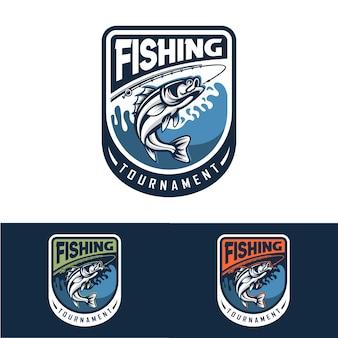 Coleção de modelo de logotipo de pesca