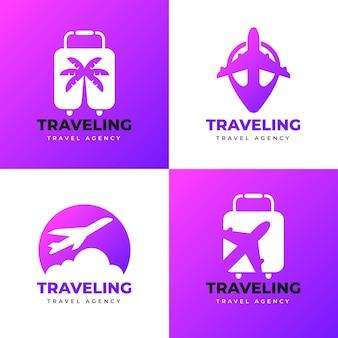 Coleção de modelo de logotipo de viagem