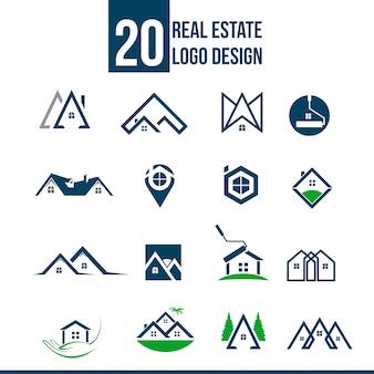 Coleção de modelo de logotipo imobiliário