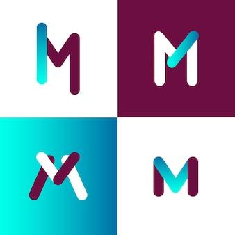 Coleção de modelo de logotipo m