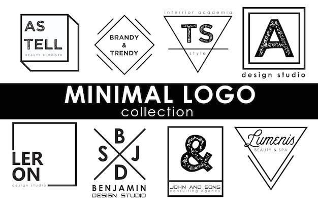 Coleção de modelo de logotipo mínimo