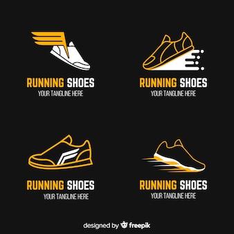 Coleção de modelo de logotipo moderno sapatos de desporto